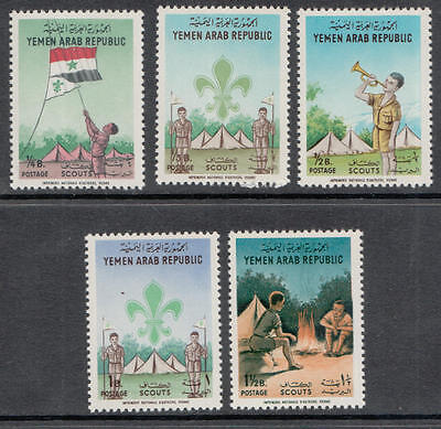 XG-C690 YEMEN - Boy Scouts, 1964 Postage, Flags MNH Set