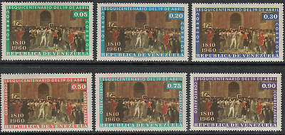 XG-C779 VENEZUELA - Paintings, 1960 Uniforms, 150Th Ann. Of April MNH Set