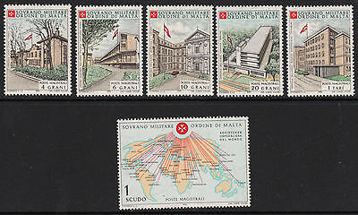 XG-D126 SMOM/VATICAN CITY - Building, 1970 Hospital Help In The World MNH Set