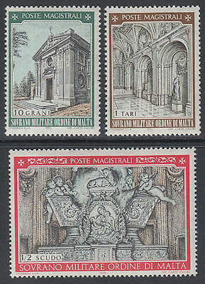 XG-D129 SMOM/VATICAN CITY - Christmas, 1970 Church Of St. Mary Of Priory MNH Set