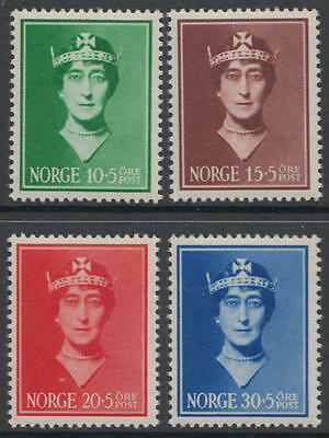 XG-D163 NORWAY - Royalty, 1939 Queen Maud Child Fund MNH Set