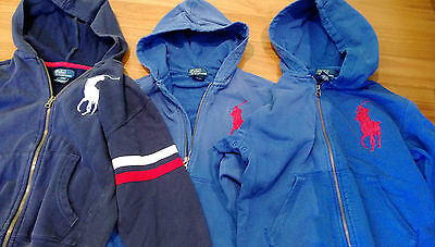 Polo Ralph Lauren 3 x hooded tops long sleeve used very good cond sizes 6, 8, 8
