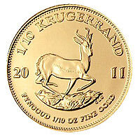 3 x Tenth Ounce Krugerrand Pure Gold Coin - Bargain
