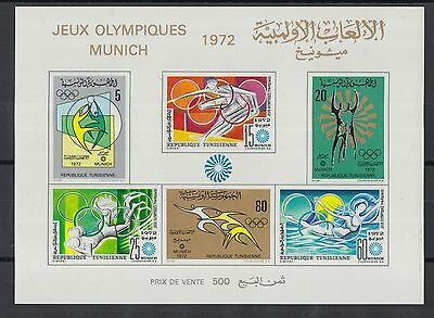 XG-Q836 OLYMPIC GAMES - Tunisia Ind, 1972 Germany Munich '72, Imperf. MNH Sheet