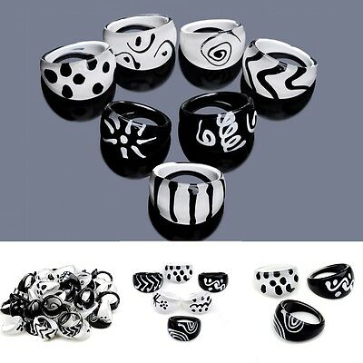 New Wholesale Lots mixed 10pcs HOT Fashion Children's Kids Resin Ring Jewelry