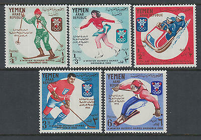 XG-Q892 YEMEN - Olympic Games, 1968 Winter, France Grenoble '68 MNH Set