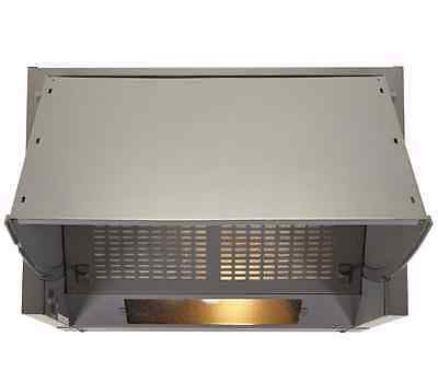 Cooke & Lewis CLIH60-C Stainless Steel Integrated Cooker Hood, (W) 600mm