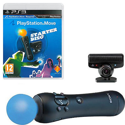 Kit Move Controller Videocamera Gioco Sony Ps3 Playstation 3 Originale Nuovo Ps4