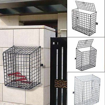 Letterbox Cage Door Mail Box Letter Guard Wall Mounted Basket Post Catcher Metal