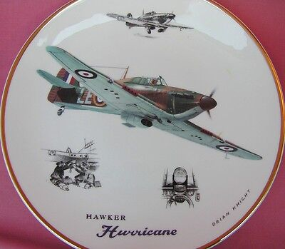 Royal Doulton Hawker Hurricane Raf Aircraft Plate Legends Of The Sky Mint In Box