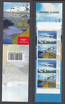 XG-R314 ICELAND - Aviation, 2009 Airplanes, Nature MNH Booklet