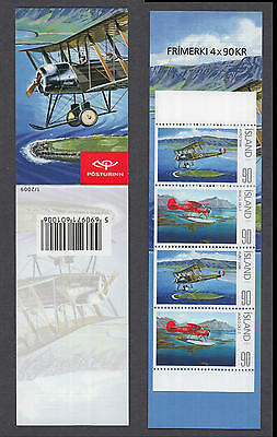 XG-R315 ICELAND - Aviation, 2009 Historical Airplanes, Nature MNH Booklet