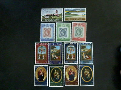 ST. LUCIA  -  4 shows complete unstamped , MNH