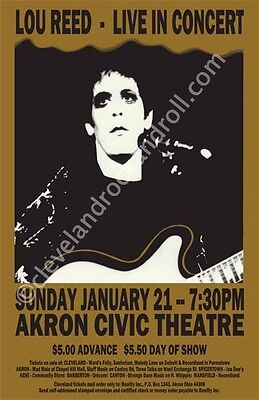 Lou Reed 1973 Cleveland Concert Poster