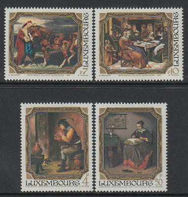 XG-R596 PAINTINGS - Luxembourg, 1984 4 Values MNH Set