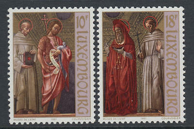 XG-R604 LUXEMBOURG - Paintings, 1987 2 Values MNH Set