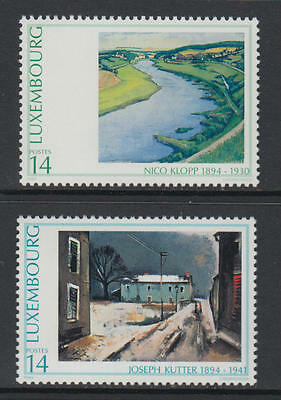 XG-R643 LUXEMBOURG - Paintings, 1994 2 Values MNH Set