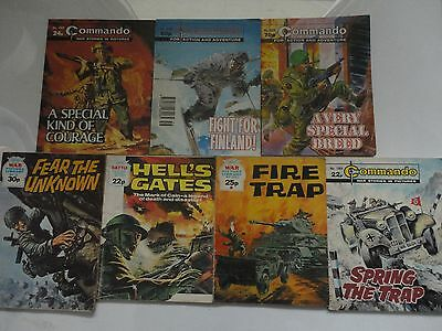 Commando,War picture and Battle picture library Magazines x 7