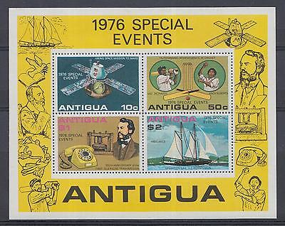 XG-C011 SPACE - Antigua, 1976 Ships Cent. Of Telephone, Special Events MNH Sheet