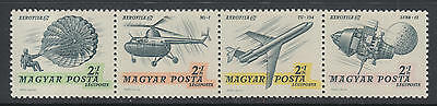 XG-D314 AVIATION - Hungary, 1967 Helicopters, Space, Strip MNH Set