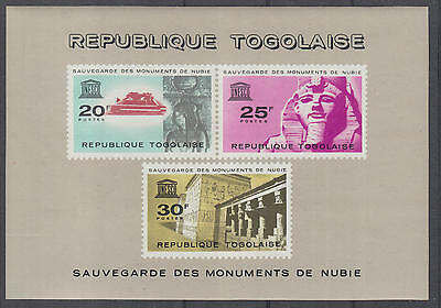 XG-D361 TOGO IND - Nubia, 1964 Save Monuments, Unesco MNH Sheet