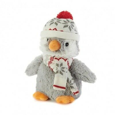 Warmies Cozy Plush Penguin With Hat And Scarf Lavender Scented Soft Childs Toy