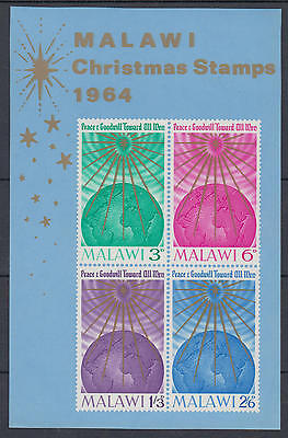 XG-D638 MALAWI - Christmas, 1964 Peace And Goodwill Towards All Men MNH Sheet