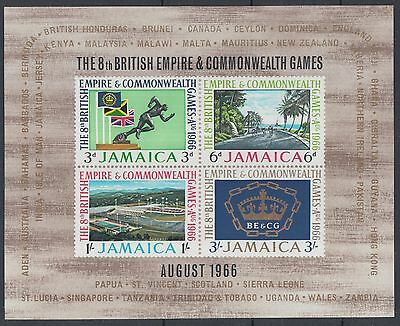 XG-D639 JAMAICA IND - Sports, 1966 British Empire, Commonwealth Games MNH Sheet