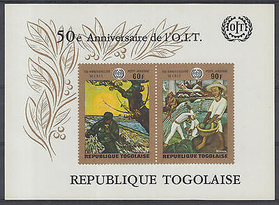XG-D709 TOGO IND - Agriculture, 1970 I.L.O./O.I.T. 50Th Anniversary MNH Sheet