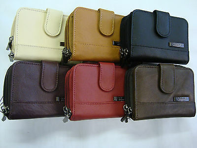Genuine Leather Ladies Purse Wallet Credit Card Holder All in One