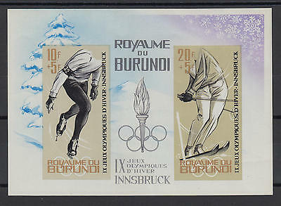 XG-S092 OLYMPIC GAMES - Burundi, 1964 Winter, Innsbruck '64, Imperf. MNH Sheet
