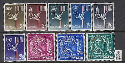 XG-S133 MALTA IND - Year Set, 1964 9 Values Complete As Per Scan MNH Set