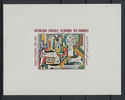 XG-S183 COMOROS IND - Paintings, 1981 Picasso, Deluxe Proof MNH Sheet