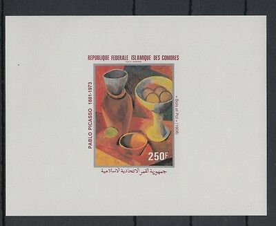 XG-S184 COMOROS IND - Paintings, 1981 Picasso, Deluxe Proof MNH Sheet