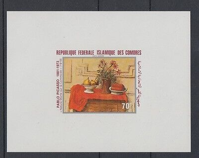 XG-S185 COMOROS IND - Paintings, 1981 Picasso, Deluxe Proof MNH Sheet