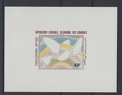XG-S186 COMOROS IND - Paintings, 1981 Picasso, Deluxe Proof MNH Sheet