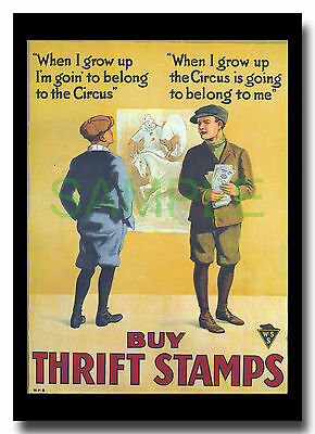 Buy Thrift Stamps WW1 Canadian framed poster reproduction