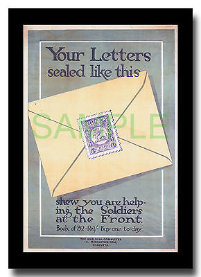 Your Letters Sealed Like This WW1 Indian framed poster reproduction