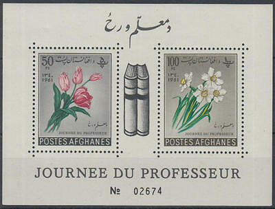 XG-E089 AFGHANISTAN - Flowers, 1961 Professor Day MNH Sheet
