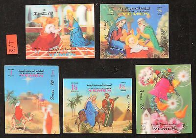 XG-E168 YEMEN - Christmas, 1970 Holography, 3D, Nativity MNH Sheet
