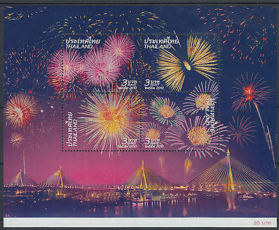 XG-E338 THAILAND - Bridge, 2010 Fireworks MNH Sheet