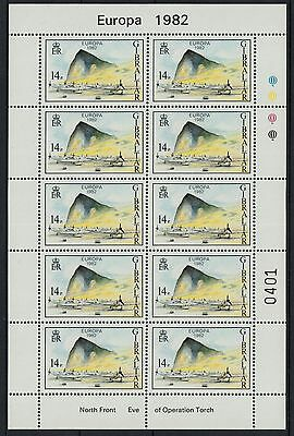 XG-E432 GIBRALTAR - Aviation, 1982 North Front, Eve Of Operation Torch MNH Sheet