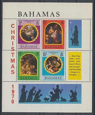 XG-E964 BAHAMAS IND - Paintings, 1970 Christmas, Pittoni, Giorgione MNH Sheet