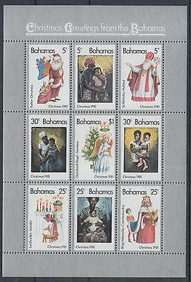 XG-F038 BAHAMAS IND - Christmas, 1981 Children With Mothers MNH Sheet