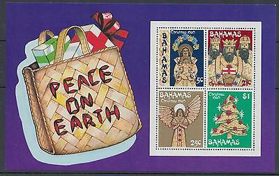 XG-F039 BAHAMAS IND - Christmas, 1980 Peace On Earth MNH Sheet