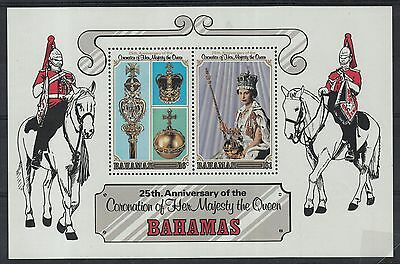 XG-F045 BAHAMAS IND - Royalty, 1978 25Th Ann. Q. Elizabeth Coronation MNH Sheet