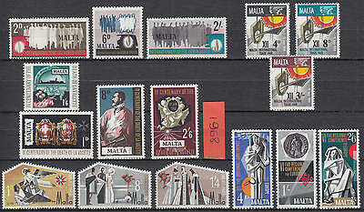 XG-F135 MALTA IND - Year Set, 1968 Complete As Per Scan, Religion MNH Set