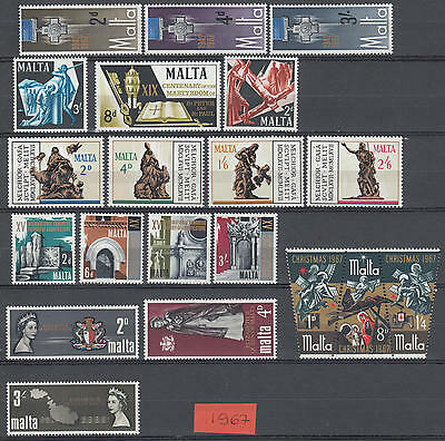XG-F137 MALTA IND - Year Set, 1967 Complete As Per Scan MNH Set