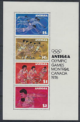 XG-F467 OLYMPIC GAMES - Antigua, 1976 Canada Montreal '76 Cycling MNH Sheet