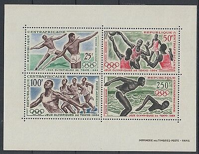 XG-F469 OLYMPIC GAMES - Central African, 1964 Japan Tokyo '64 MNH Sheet